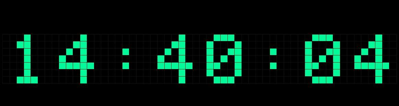 教你使用392个格子做个点阵时钟