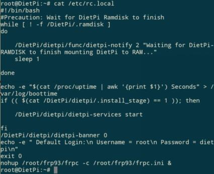 FRP在LINUX系统下添加开机启动的折腾记录