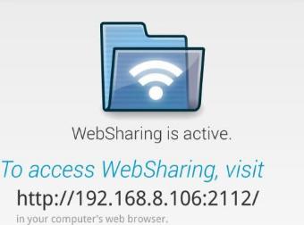 安卓手机wifi文件管理器WebSharingLite