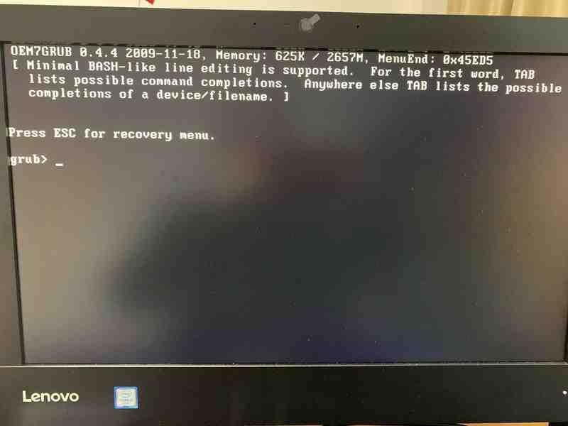 电脑开机提示press esc for recovery menu解决办法