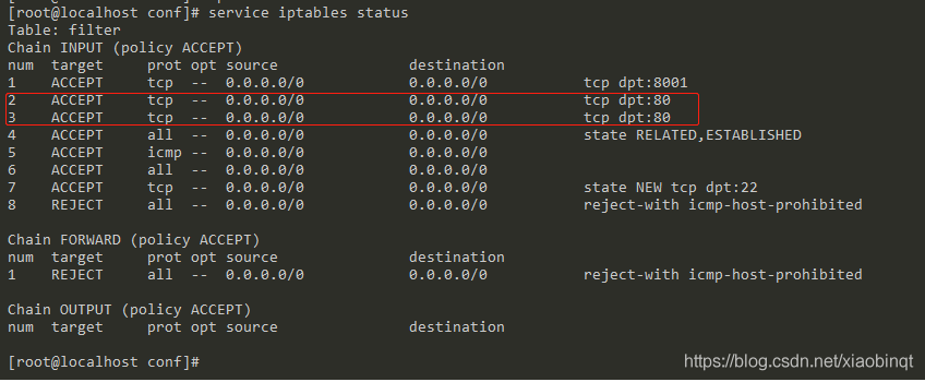 CentOS6.9添加删除指定端口