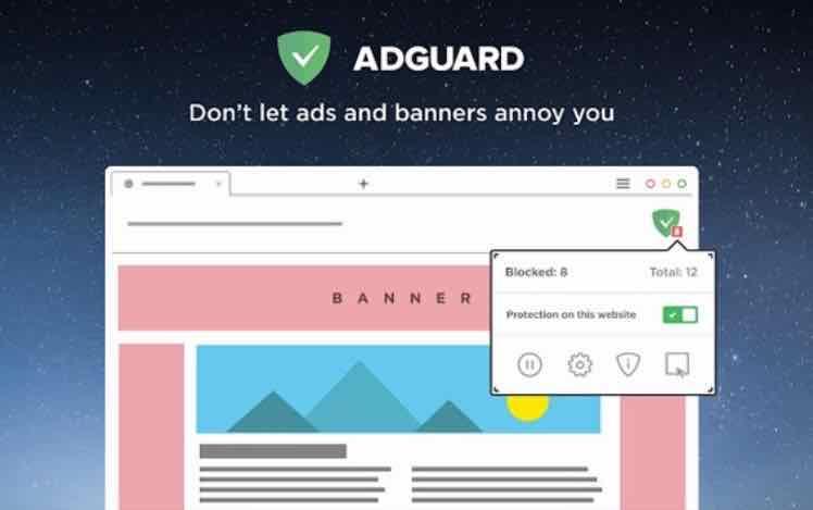 AdGuard浏览器广告拦截插件